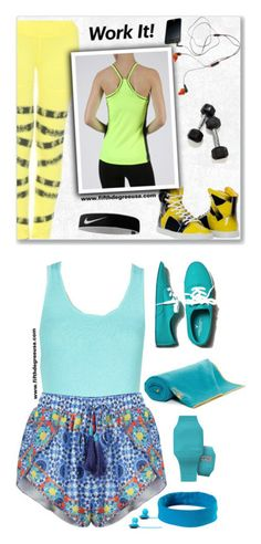 """""""FIFTH♡DEGREE #1"""" by oliverab ❤ liked on Polyvore featuring NIKE, fitness, gym, sportwear, fifthdegree, American Eagle Outfitters, Manduka, SOL Republic and prAna"""