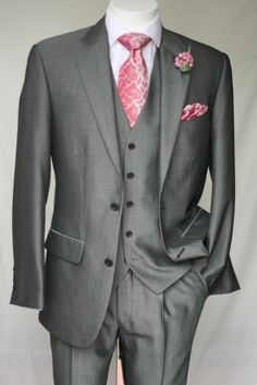 Wedding Suit Grey And Pink