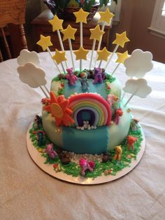 My Little Pony Birthday Cake - My little pony birthday cake I made for my niece.