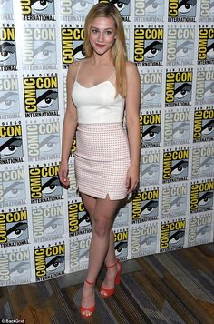 Too sweet! Lili Reinhart put a sexy twist on her character Betty Cooper's syrupy sweet style at Comic Con Saturday, where she donned a pink mini skirt and slinky white cami