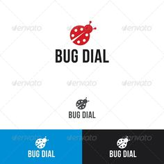 Bug Dial  Logo Design Template Vector #logotype Download it here: http://graphicriver.net/item/bug-dial-logo-template/2344132?s_rank=528?ref=nexion
