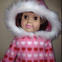 American Girl doll fleece hoodie