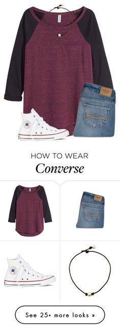 """""""I hate Chemistry!!!!"""" by lizzy-carson on Polyvore featuring H&M, Abercrombie & Fitch, Converse, women's clothing, women, female, woman, misses and juniors"""