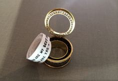 ring with secret message inside - Google Search