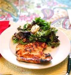 Grilled Chicken with Peach Adobo Sauce