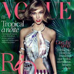 A top norte americana Karlie Kloss - que irá abrir nosso desfile de inverno no SPFW - será capa da revista Vogue de novembro com look total Animale! #desfile #spfw #inverno2014 #animalebrasil
