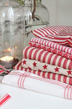 VIBEKE DESIGN: Julens tekstiler i rødt! Christmas linen