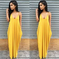 Fashion Women Summer Casual Boho Long Maxi Evening Party Dress Beach Dresses S #dresses #fashion #style #women #trend