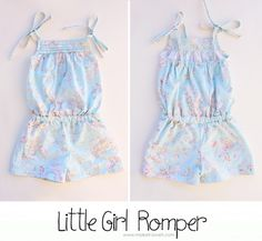 little girls Romper tutorial ... Any size (use kids clothes for pattern)