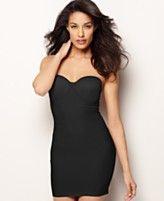 Naomi & Nicole Shapewear, Firm Control Smooth Look Convertible Strapless Bra Slip 7777 | Macy's | Wardrobe Wednesday | Boudoir | Curvy Girl | Plus Size |