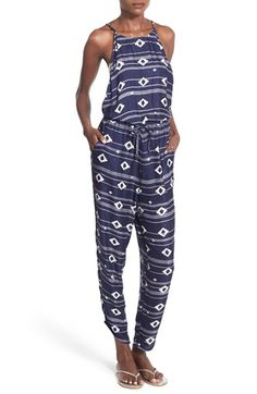 Roxy 'Dakota' Jacquard Sleeveless Jumpsuit
