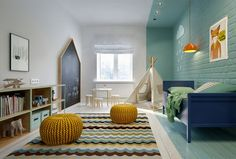 Chambre d'enfants / Kids Home / Décoration chambre enfant, idée déco enfant, chambre enfant colorée, chambre enfant arty, Lovely Market