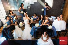 "Bridal party posing ""vogue style"", W Hoboken Wedding Photographer » Rhinehart Photography"