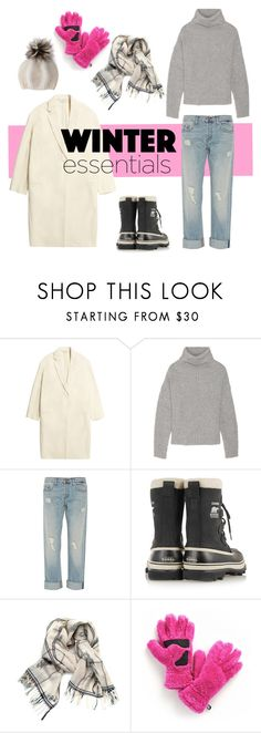 """""""Get Ready for Winter"""" by youaresofashion ❤ liked on Polyvore featuring Studio Nicholson, Maje, J Brand, SOREL, Little Fool Textiles, Columbia Sportswear and winteressentials"""