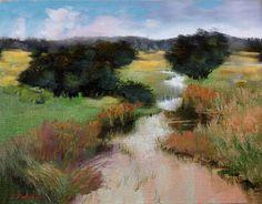 "Art Landscape ""On a Rainy Day"" Original Tonalist Impressionism Oil Painting #Tonalism"