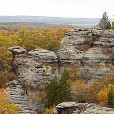 garden of the gods in shawnee national forest, illinois.