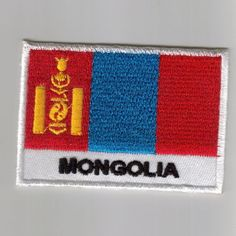 MONGOLIA Shield Country Flag Embroidered PATCH Badge P1