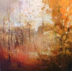 Forest clearing, Claire Wiltsher oil and mixed media