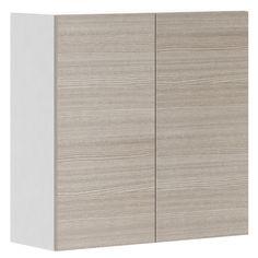 Armoire de cuisine à deux portes « Pin argenté », 30 po