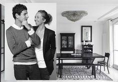 décoration appartement noir et blanc : un appart' 100% noir et blanc - Elle Décoration