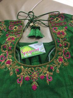 Singaar boutique 8919714848 Blouse Designs High Neck, Cutwork Blouse Designs, Best Blouse Designs, Pattu Saree Blouse Designs, Simple Blouse Designs, Choli Designs, Anarkali, Lehenga, Sarees
