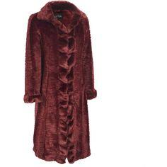 Fabulous Furs Ruffled Broadtail Long Mink Faux-Fur Coat - Fabulous... (38.360 RUB) ❤ liked on Polyvore featuring outerwear, coats, faux coat, long fake fur coat, long mink fur coat, red faux fur coat and long faux fur coat