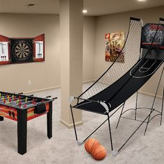 Forget going to the movies, get the entire family together in the game room to make memories for years to come. This collection features everything you need to convert that a basement or den into the hottest hangout with air hockey tables, ping pong, pool, basketball shootouts and so much more. So stay in for the night and let the competition begin.