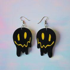 Weird Jewelry, Funky Jewelry, Cute Jewelry, Funky Earrings, Face Earrings, Statement Earrings, Gothic Earrings, Piercing Chart, Style Hipster