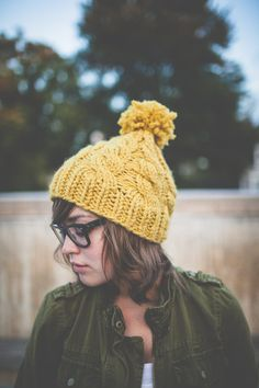 Chunky Knit Cabled Hat by agirlnamedleney on Etsy