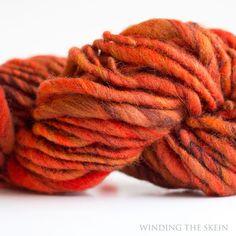 Handspun Thick N Thin Handspun Yarn Brave B 42 by windingtheskein, $15.00