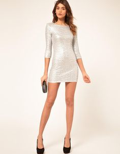 TFNC | TFNC Sequin Dress with Long Sleeves at ASOS