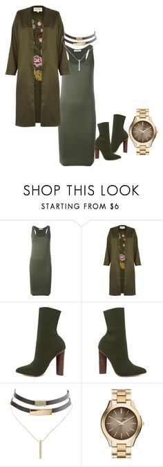 """Untitled #288"" by slayedbyk on Polyvore featuring A.F. Vandevorst, River Island, Steve Madden, Charlotte Russe and MICHAEL Michael Kors"