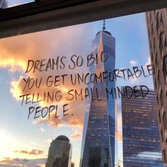 Dreams so big you get uncomfortable telling small minded people. Motivacional Quotes, Mood Quotes, Positive Quotes, Life Quotes, People Quotes, The Words, Cool Words, Pretty Words, Beautiful Words