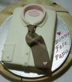 Gâteau chemise pour la fête des Pères