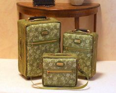1:12 Scale Dollhouse Miniature Luggage Set | Flickr - Photo Sharing!