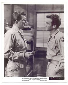 ORIGINAL 1958 DEAN MARTIN AND BARBARA RUSH IN THE YOUNG LIONS STAMPED PHOTO (9)