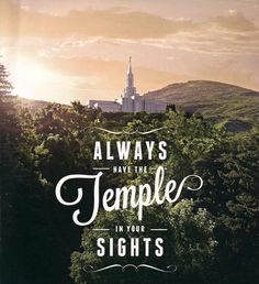 You are never lost when you can see the temple http://facebook.com/163927770338391. The Lord's house provides light and direction for us in a challenging world. It is an eternal guidepost which points heavenward with hope and fills us with faith in what's possible because of the Savior—to return someday to our heavenly home and enjoy God's presence there along with those most dear to us.