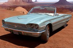 The 1966 Ford Thunderbird convertible from Thelma & Louise (1991).