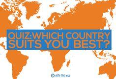 QUIZ: Which Country Suits You Best?   froniter.ac.uk   blog.frontiergap.com    #travel #adventure #explore #journey #volunteer #wanderlust #world #holiday