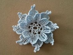 Crocheted flower No 3 - YouTube