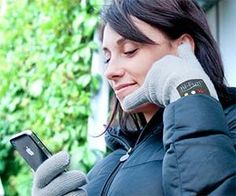 Bluetooth Phone Handset Gloves. Now you can literally talk to the hand with these Bluetooth phone handset gloves. These gloves feature an earpiece in the thumb and a microphone in the pinky, and are guaranteed to make you look like a crazy person while using it in public.