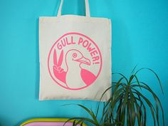 Gull Power Tote Bag Girl Power Tote Feminist Tote Bag