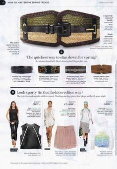 ADA COLLECTION Adrienne Belt featured in the March 2012 issue of Lucky Magazine!