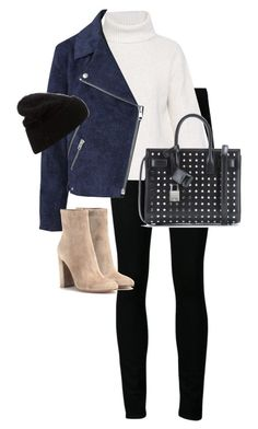 """""""Untitled #10294"""" by alexsrogers ❤ liked on Polyvore featuring Paige Denim, Proenza Schouler, Acne Studios, Gianvito Rossi and Yves Saint Laurent"""