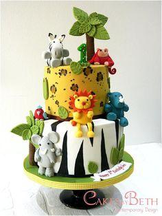 Jungle birthday cake by Beth Mottershead