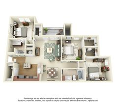 House Architecture Plan 25 more 3 bedroom 3d floor plans | 3d, bedrooms and 3d interior design