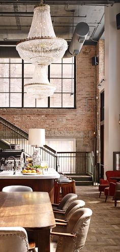 Experience the local fare in Chicago and get a glimpse into the ambiance of… – restaurante Bar Interior, Interior Decorating, Interior Design, Decorating Ideas, Lofts, Warehouse Living, Chicago Hotels, Hospitality Design, Architecture