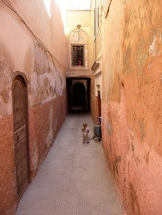 Morocco Marrakech - Child in Medina Alley -