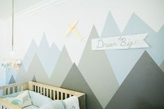 Last week I started designing the Twins big boy room, and shared my options for beds in shared rooms. This week, I'm taking things a step further and thinking about the walls. I would love the