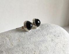 Sparkling Back Spinel Silver Stud Earrings by MarulaJewellery